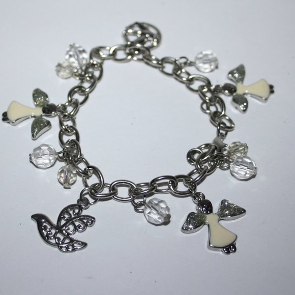 Beautiful silver and angel charm bracelet
